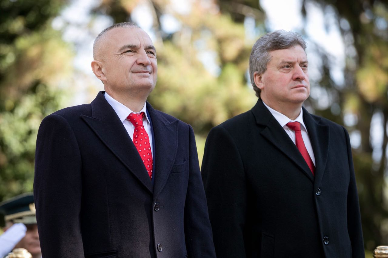 Presidenti i Shqipërisë Ilir Meta pritet nga presidenti maqedonas Ivanov