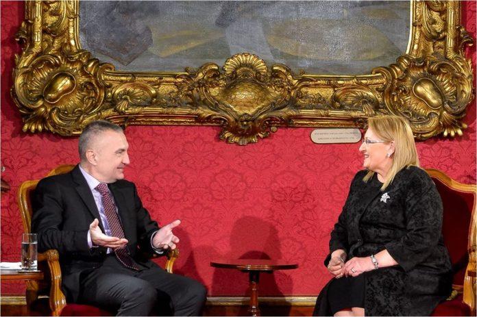 Presidenti Meta pritet nga Presidentja e Maltës