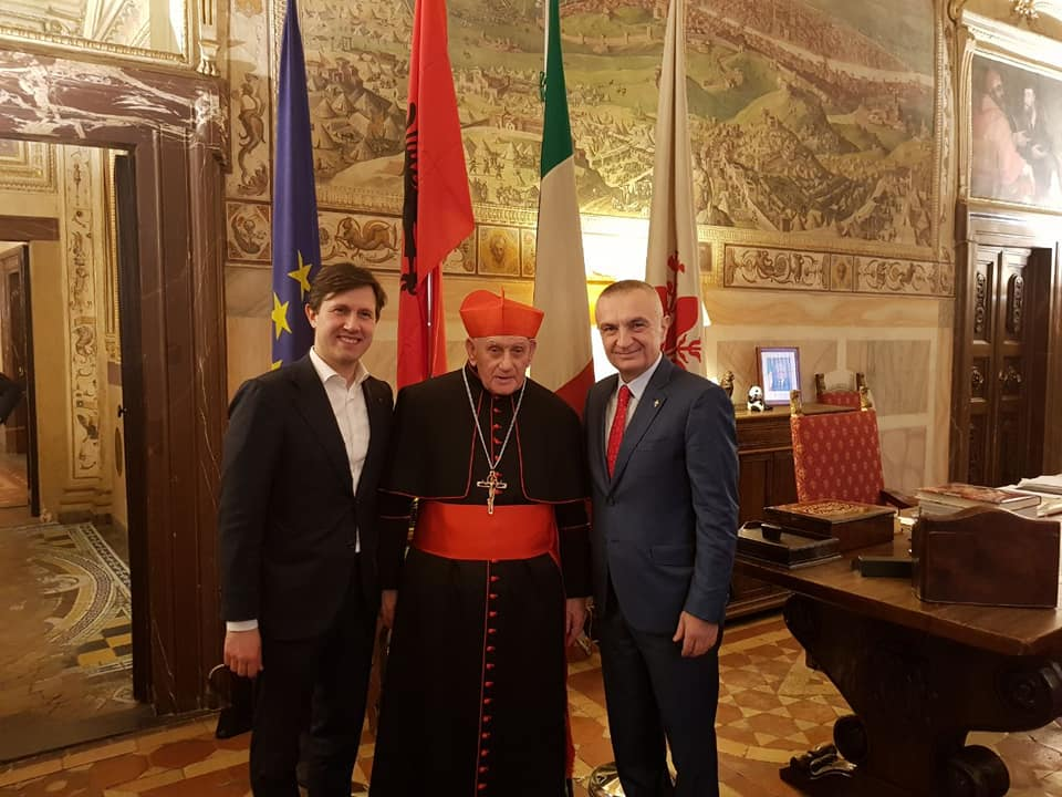 Presidenti Meta me Kardinal Ernest Troshani te kryebashkiaku i Firencës