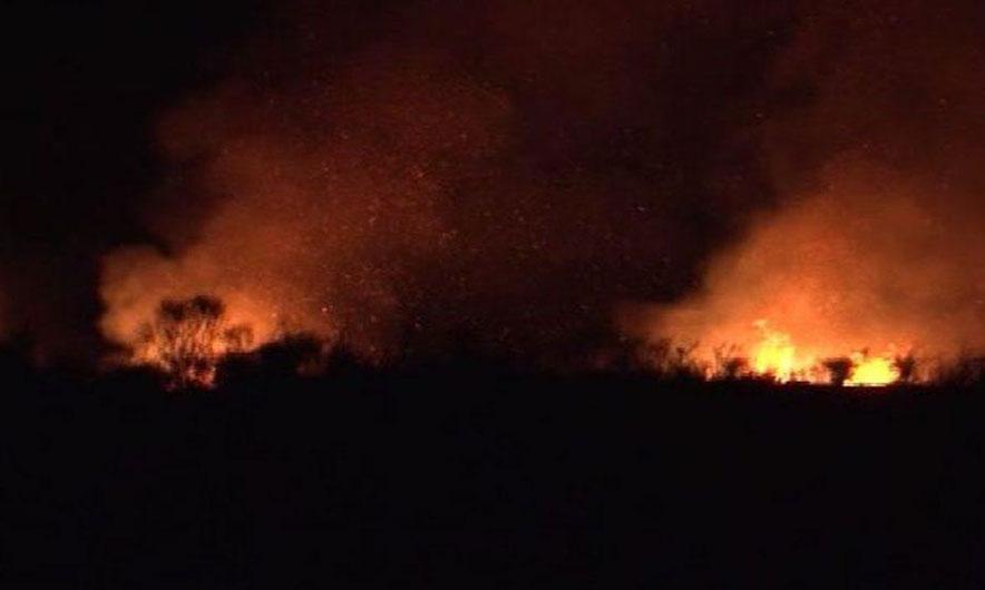 Zjarr në Dhermi  rrezikohen banesa