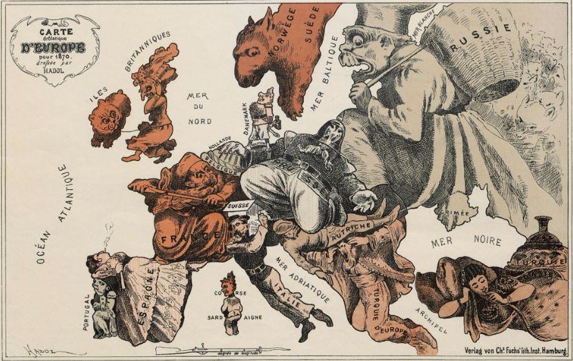 """Harta e vitit 1870: """"Britania i kthen shpinën një Europe kaotike"""""""