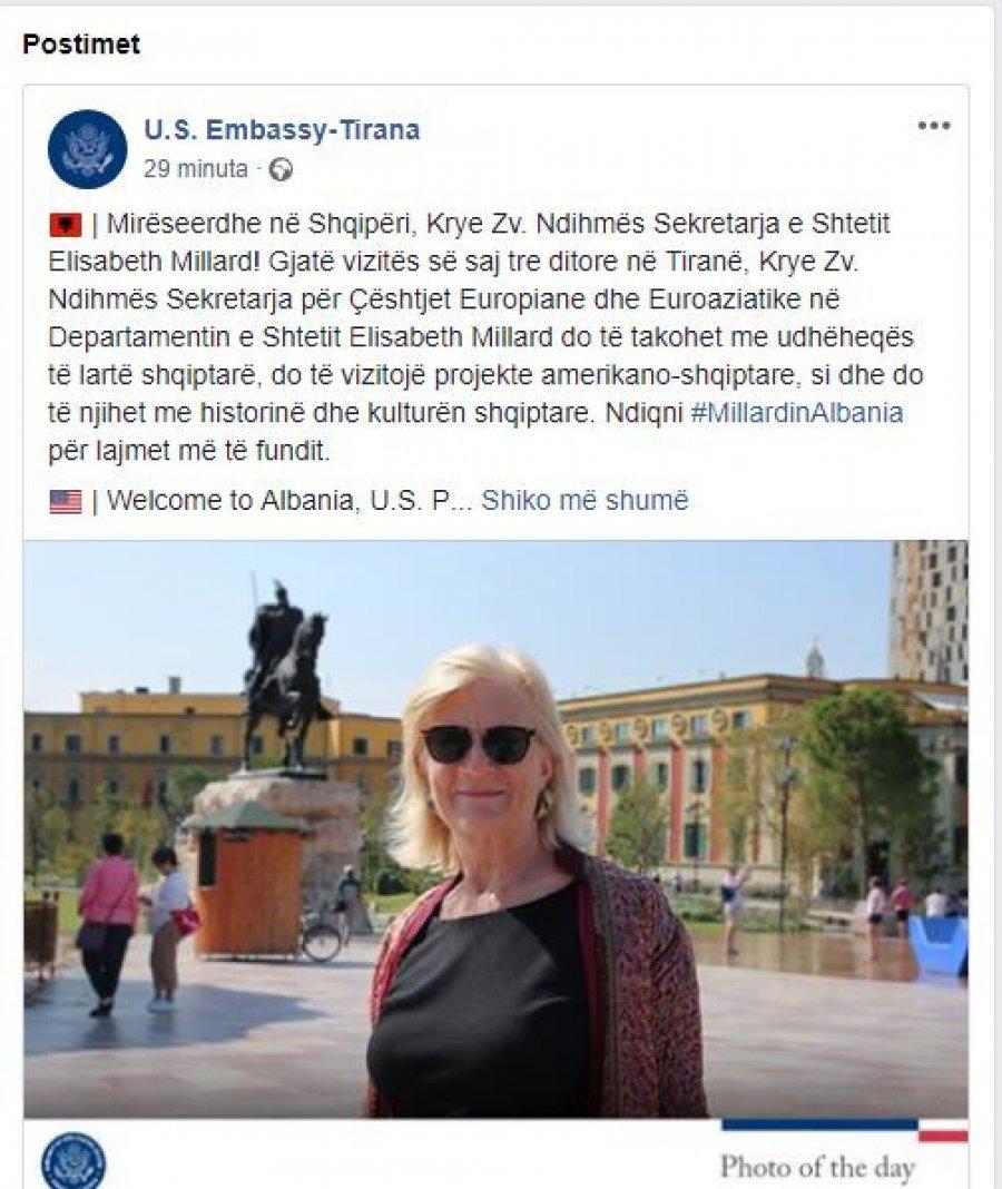 Zyrtarja e lartë amerikane Elisabeth Millard vjen në Tiranë për tre ditë