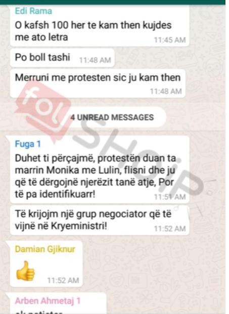 Folshqip.al: Zbulohet sms e Kryeministrit Rama për ministrin: O kafsh, kujdes me ato letrat!