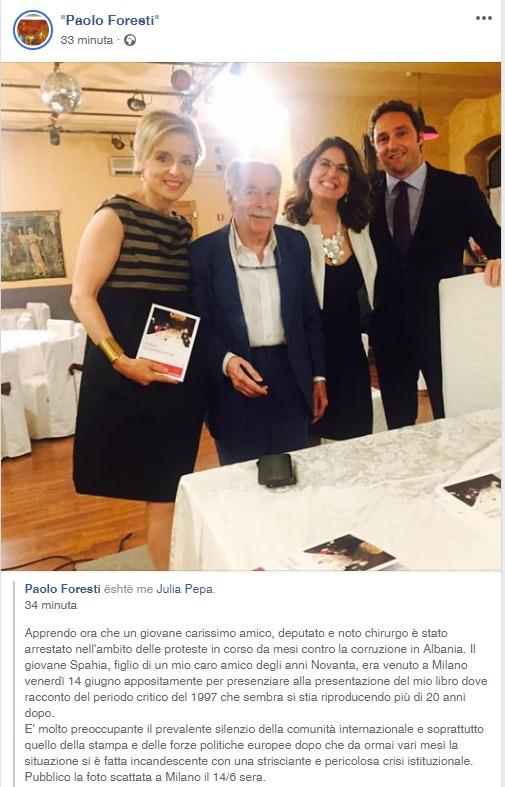 Ish-ambasadori italian, Paolo Foresti: Mos e ktheni Shqipërinë në vitin 1997